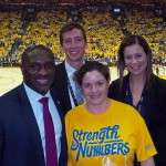 (l to r: Jerome Pickett, NBA Senior Vice President of Security and Chief Security Officer; Alex Ozenberger, TEAM Coalition Event Manager; Elyssa Eldridge, Golden State Warriors Designated Driver for the Season; Abeer Klosk, NBA Senior Analyst